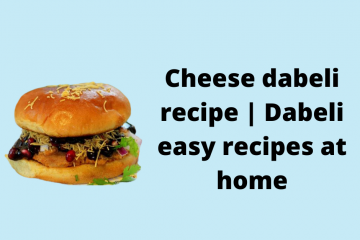 Cheese Dabeli recipe