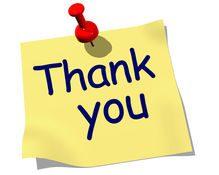 Thankyou note